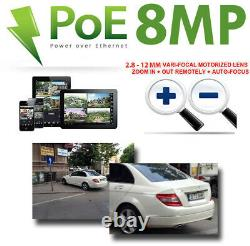 (32) 4k 8mp 4x Motorized Zoom Ip Microphone (2 To) Nvr Poe Security Camera System