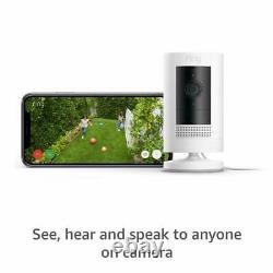 3 Pack Anneau Stick Up Intérieur / Extérieur 1080p Wifi Blanc Caméra De Sécurité Filaire