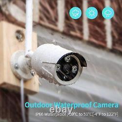 4 Camara De Seguridad Sistema Inalambrica Imperméable Inteligente Wifi Hd Nvr