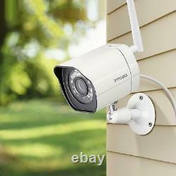 4 Camaras De Seguridad Wifi Exterior 1080p Inalambrica Con Vision Nocturna Vidéo