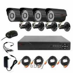 4ch Ahd Home Security Camera System Kit Waterproof Night Vision Dvr Caméra Cctv
