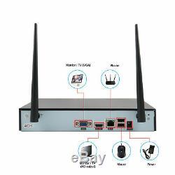 4ch Wifi Sans Fil À Domicile Système De Sécurité Nvr 960p Ir Cctv Caméra De Vision Nocturne Ip66