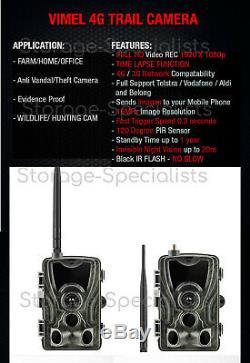 4g Trail Caméra Sans Fil Home Security Cam Téléphone 3g Mms Anti Theft Waterproof