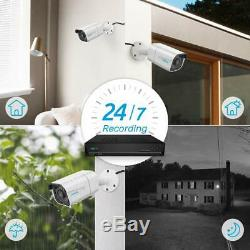 4k 8mp Poe Sécurité Système De Caméra Ip Filaire 8ch Nvr Kit 7x24 Enregistrement Rlk8-800b4