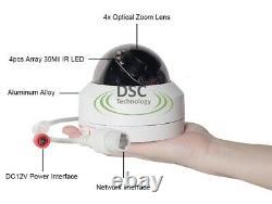 5mp Full Hd Ptz Ip Caméra Extérieure 4x Optique Zoom Mini Speed Dome Cam Poe P2p