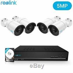 5mp Poe Système De Caméra De Sécurité 8ch Nvr Surveillance Vidéo Reolink Rlk8-410b4-5mp