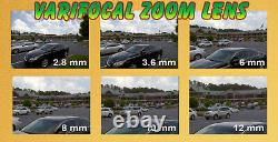 8 Canal 4k Nvr 4 X 5mp 2.8-12mm Varifocal Zoom Ip Poe Camera System 1t Hd