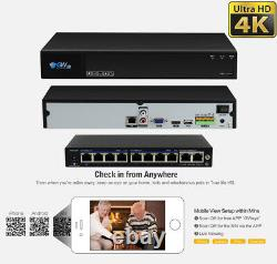8 Canal 4k Nvr 4 X 8mp Starlight 4k Microphone Poe Ip Security Camera System