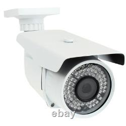 8 Canal Nvr 4 X 5mp Varifocal Ip Poe Security Camera System 196ft Ir 4tb Hdd