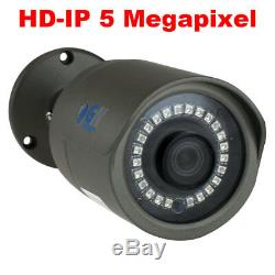 8 Canaux 8mp 4k Nvr 8 X 5mp 1920p Poe Ip Extérieur Accueil Système De Caméra De Sécurité 1t