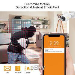 8 Canaux H. 265+ 1080p Dvr 2mp Extérieur Accueil Sécurité Surveillance Système De Caméra