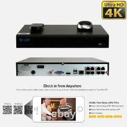 8 Channel 4k Nvr 8 X 8mp Full Color 4k Microphone Poe Système De Caméra De Sécurité Ip