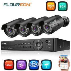 8ch 1080p 1080n Dvr Kit Ir Ip66 3000tvl 2mp Caméra Cctv Accueil Kit Système De Sécurité