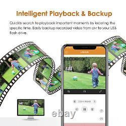 8ch 1080p Système D'appareil Photo De Sécurité À Domicile Outdoor Ir Night Vision Cctv Dvr Kit