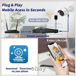 8ch 5mp Dvr Wired 8ch Home Security Camera Outdoor System With Hard Drive 4pcs