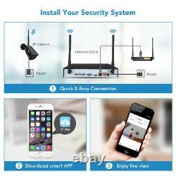 8ch Audio Wireless Camera 1080p Extérieur Intérieur Wifi Cctv Système De Sécurité Hd Nvr