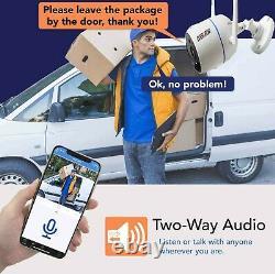 8ch Deux Voies Audio Home Caméra De Sécurité Système De Surveillance Wifi Sans Fil Dvr