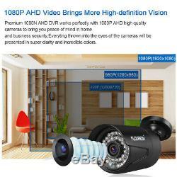 8ch Dvr 1080p 3000tvl Ir Extérieur Cctv Sécurité Résidentielle Sécurité Système De Vision Nocturne Caméra