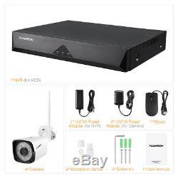 8ch Hd 1080p Sans Fil D'extérieur Accueil Sécurité Système De Caméra Cctv Hdmi Nvr Ir Nuit