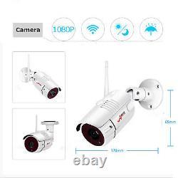 8ch Hd 8 Pcs 1080p Cctv Kit Nvr Wireless Security Camera System Wifi Extérieur 2 To
