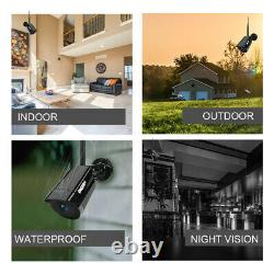 8ch Wireless 1080p Wifi Audio Cctv Camera Outdoor Home Security System Nvr Lot
