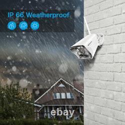 8ch Wireless Wireless Home Security Camera System Nvr 1080p Cctv Ir Night Vision