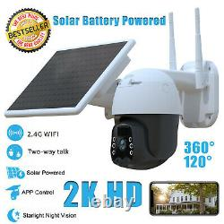 Accueil Caméra De Sécurité Outdoor Solar Battery Powered Wireless Pan Tilt Spotlight
