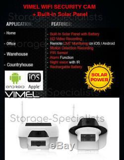 Accueil Sans Fil Caméra De Sécurité Extérieure Batterie Solaire Wifi Thermique Ip Vision Nocturne