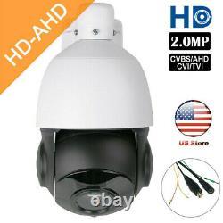 Ahd 1080p 2mp Ptz Caméra 30x Zoom Vitesse Dome Extérieur Ir-cut Cctv Sécurité Osd