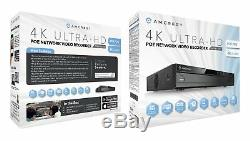 Amcrest Nv4108e-hs 4k 8ch Poe Nvr Système Home Caméra De Sécurité Surveillance Nohdd