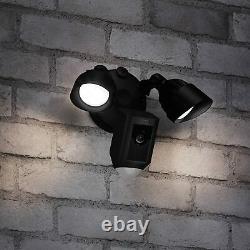 Anneau Caméra Floodlight Activé Par Le Mouvement De Sécurité Hd Cam Alarm, Noir, Alexa