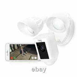 Anneau Voyellight Camerale Activée Activée Alarme De Sécurité Hd, Blanc, Alexa