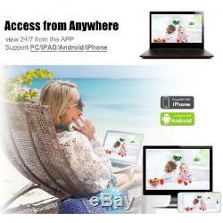 Anran 1080p 8ch Accueil Sécurité Du Système Caméras Wifi Sans Fil Extérieur Des États-unis Extensible