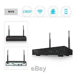 Anran 1080p Sécurité Système De Caméra Sans Fil Extérieur 8ch 2.0mp Wifi 1tb Accueil Cctv