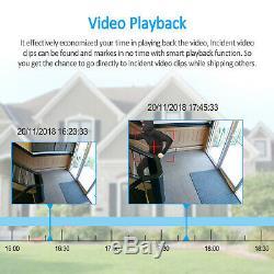 Anran 1080p Système De Caméra De Sécurité Audio Sans Fil 2to Disque Dur Réseau Domestique Wifi Cctv