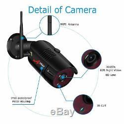 Anran 1080p Système De Caméra De Sécurité Sans Fil Accueil 8ch Extérieur 2to Disque Dur Cctv