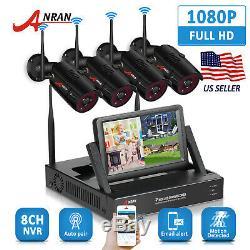Anran Accueil Extérieur Système Caméra De Sécurité Sans Fil Wifi Hd 1080p Hdmi Cctv Nvr