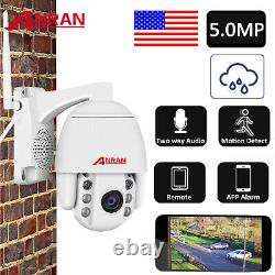 Anran Home Security Camera System 5mp Pan/tilt Wireless 2way Audio Outdoor Wifi