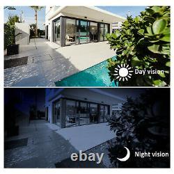 Anran Système De Caméra De Sécurité Sans Fil 8ch 1080p Vision Nocturne Extérieure Avec Audio