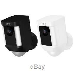 Bague Spotlight Cam Alimenté Par Batterie Caméra De Sécurité Hd Avec Deux Voies Talk & Siren