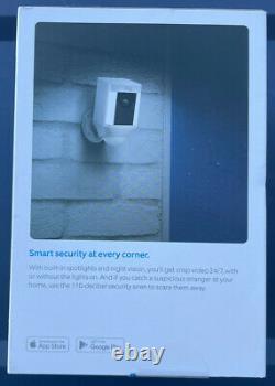 Bague Spotlight Cam Batterie Powered Hd Caméra De Sécurité Extérieure Blanc
