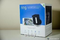 Bague Spotlight Cam Caméra De Sécurité À Pile (blanc)