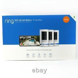 Bague Stick Up Cam 3 Pack Batterie Powered Indoor/outdoor Caméra De Sécurité Maison
