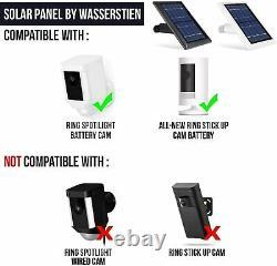 Batterie Bing Stick Up Cam Avec Appareil Photo De Groupe De Panneaux Solaires (2 Pack, Noir)