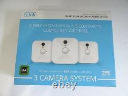 Blink Wireless Home Security 3 Système De Caméra Blanc