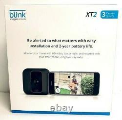 Blink Xt2 3-camera Intérieur / Extérieur Sans Fil Système De Surveillance 1080p Xt Noir