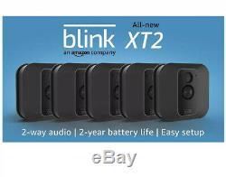 Blink Xt2 Intérieur / Extérieur Wi-fi Gratuite Fil 1080p Sécurité 5 Caméra Kit Noir