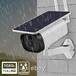 Camara De Seguridad Solar Wifi Inalambrica Para Casa Extérieur Hd 1080p Con Audio