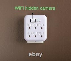 Caméra Cachée 4k Wifi Plug Utilitech 6-outlet