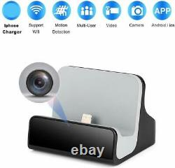Caméra Cachée Iphone Charger Dock Wifi Live View Spy Cam Pet Maison Caméra Nanny